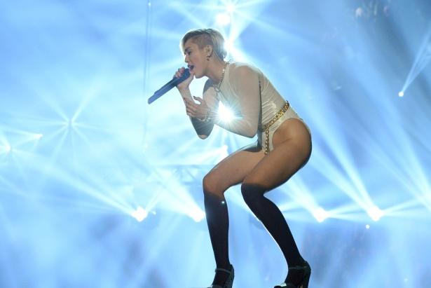 MTV EMAs: Miley Cyrus performing in Amsterdam last year