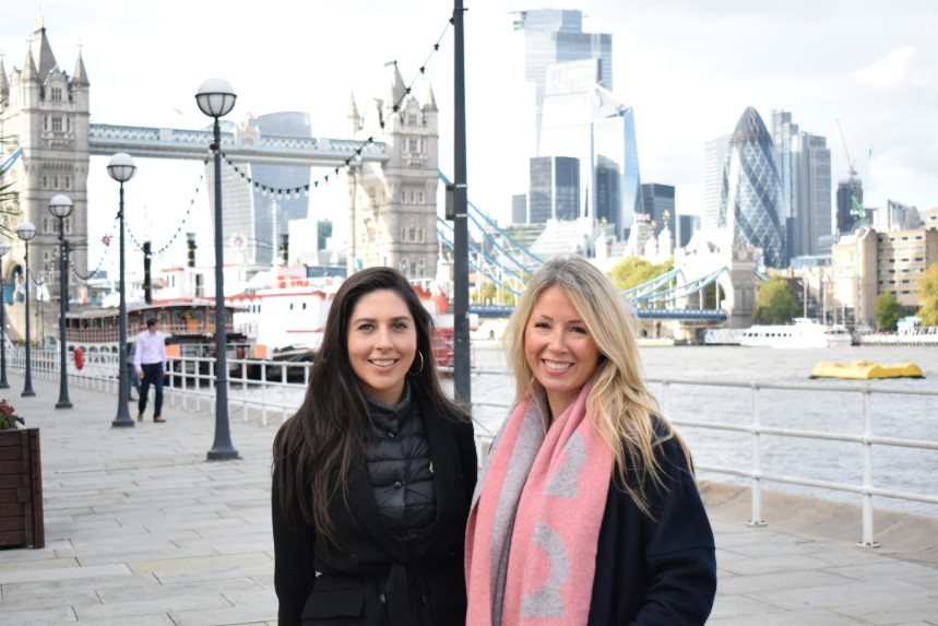 (L-R) Account director Maria Murphy, who is leading the new London office, with agency founder and MD Lisa Morton