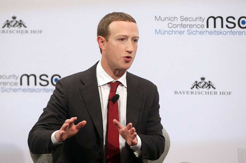 Zuckerberg: appeared at Munich conference