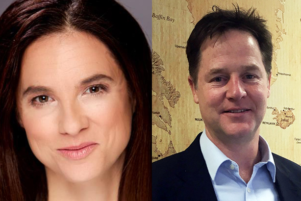 Nick Clegg (right) will help find Caryn Marooney's replacement