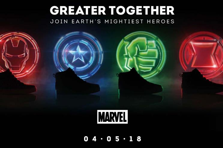 Clarks partnered with Disney for a recent Avengers: Infinity War promotion