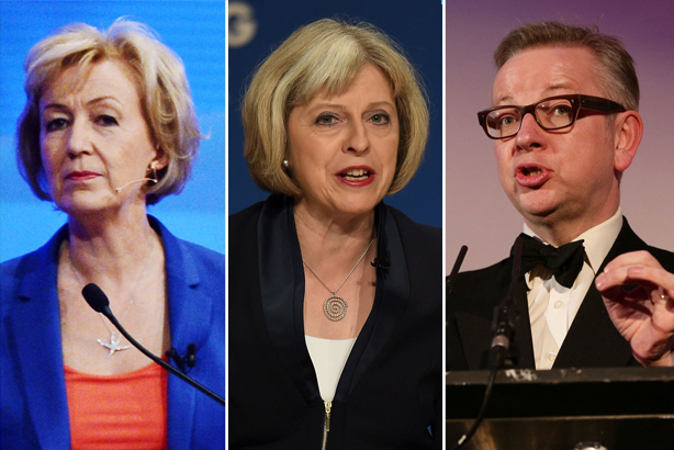 May, Leadsom and Gove have all survived the first round of voting in the Tory leadership contest (pic credit: PA Wire)
