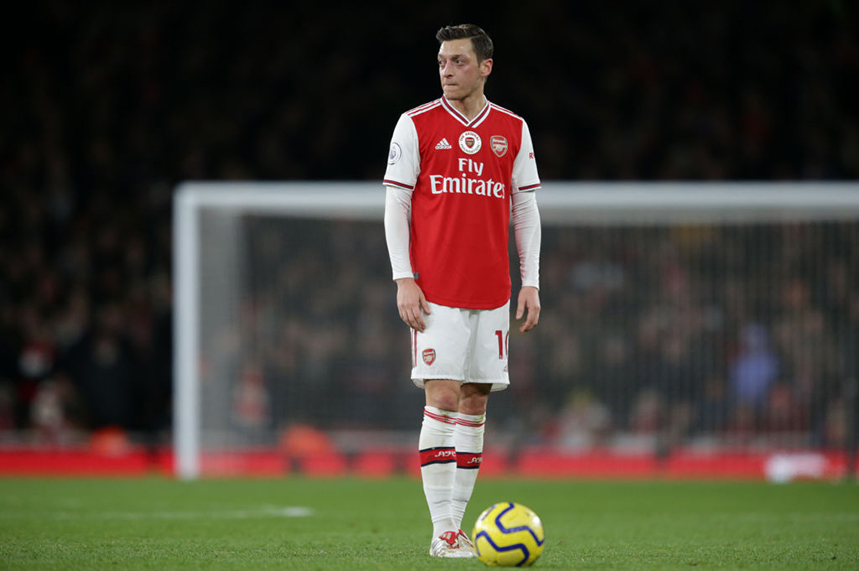 Ozil played for Arsenal against Man City on Sunday (15 December) – a game that was dropped by China's state broadcaster (©GettyImages)