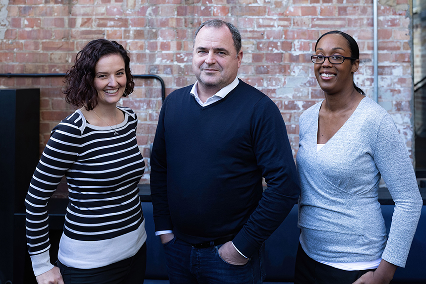 Mixology's management team (L-R): Jenna Keighley, Andrew Laxton and Chenal Frederick