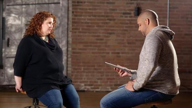 Julie DiCaro (l) talks about her experiences with Adam Woullard.