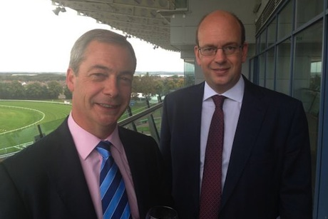 UKIP conference: First outing for Tory defector Mark Reckless (r) with Nigel Farage