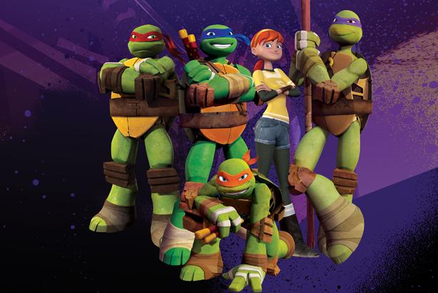 Cartoon capers: Tin Man takes on the Teenage Mutant Ninja Turtles