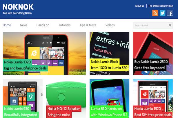 Nokia blog NokNok: produced by Next Fifteen's new acquisition Republic Publishing