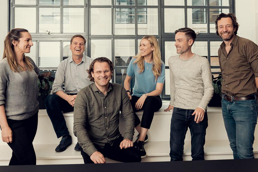 Northzone partners Marta Sjögren, Jeppe Zink, Pär-Jörgen Parsön, Jessica Schultz, Paul Murphy, Michiel Kotting.