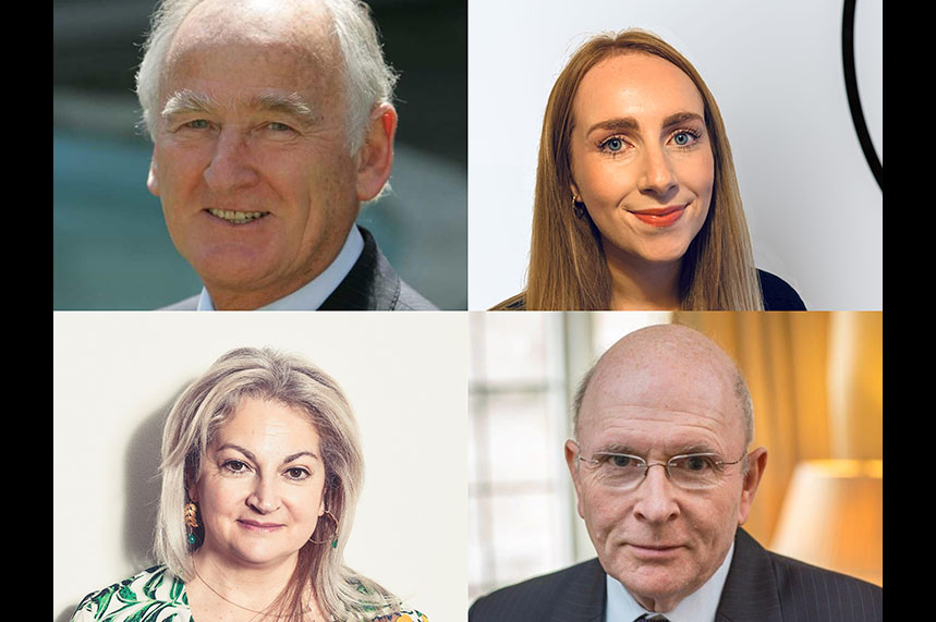 New arrivals at Ovid (clockwise, from top left): Professor David Salisbury; Grace Holland; Niall Dickson CBE; and Athena Lamnisos