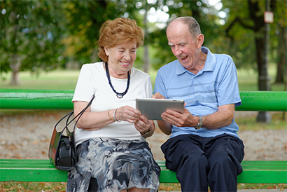 Older people are increasingly adopting tablets and social media accounts, according to Ofcom (©irman/Thinkstock)