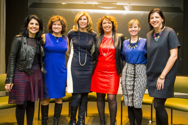 Omniwomen panelists: Tonise Paul, CEO, Energy BBDO; Dr. Sharon Melnick; Barri Rafferty, CEO, Ketchum North America; Janet Riccio, Dean of Omnicom University; Robin Shapiro, President, TBWA/CAHG; Morgan Flatley, Gatorade and Propel CMO