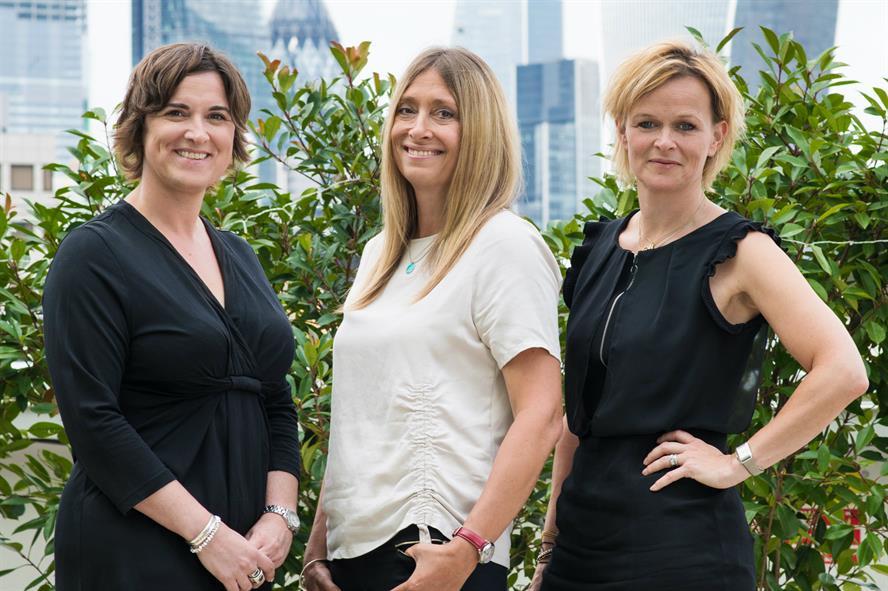 Porter team: (left to right) Nicole Yost, Jo Patterson and Fenella Grey