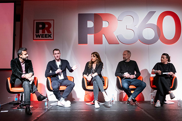 PR360 panel: Bhutta, Child, Stolliday, Austin and moderator Sarah Ogden