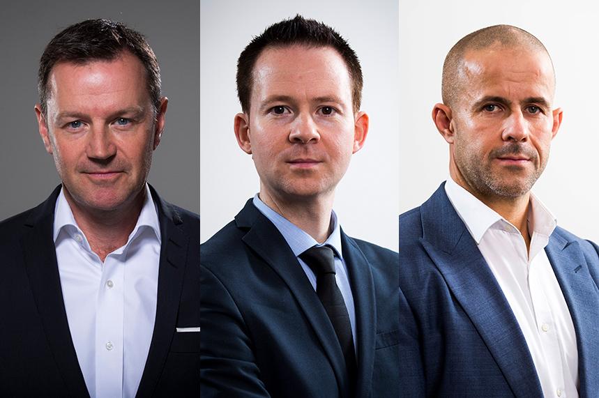 (l-r) Danny Rogers, John Harrington, Rob McKinlay