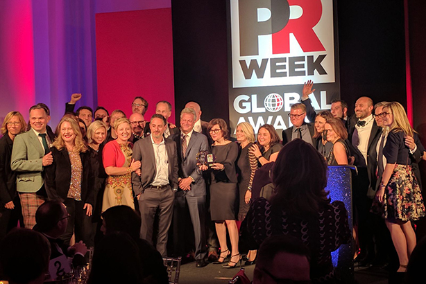 A big night for Weber Shandwick at the PRWeek Global Awards
