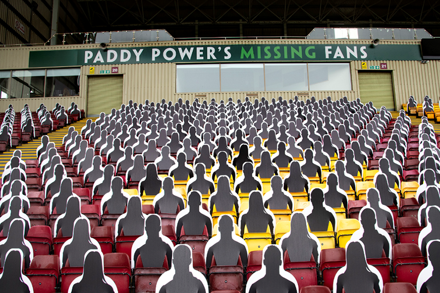 A stand at Fir Park has been filled with 'missing fans'.