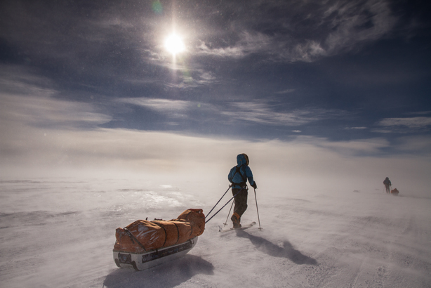 Parker Liautaud braved sub-zero conditions in his expedition