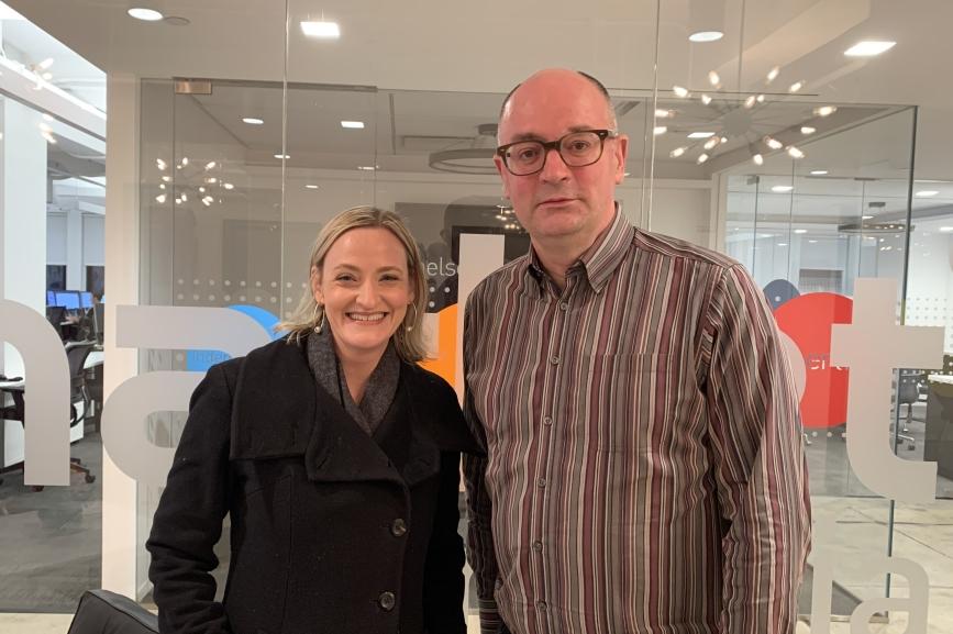 L to R: Asha Curran and Steve Barrett