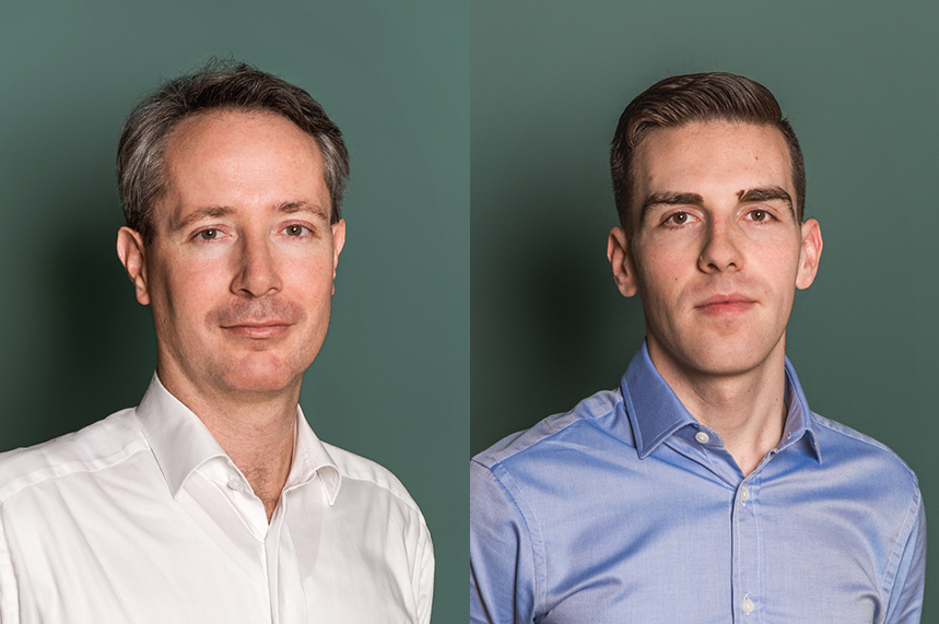 Forefront Advisers is lead by Gergely Polner (L) and James McBride (R)