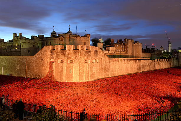 The DCMS, arts bodies and charitable organisations have been praised for their work marking the World War I centenary (pic credit: Splash News/Alamy Stock photo)