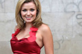 Katherine Jenkins: in a red dress made from 2,500 poppies for Poppy Appeal 2006