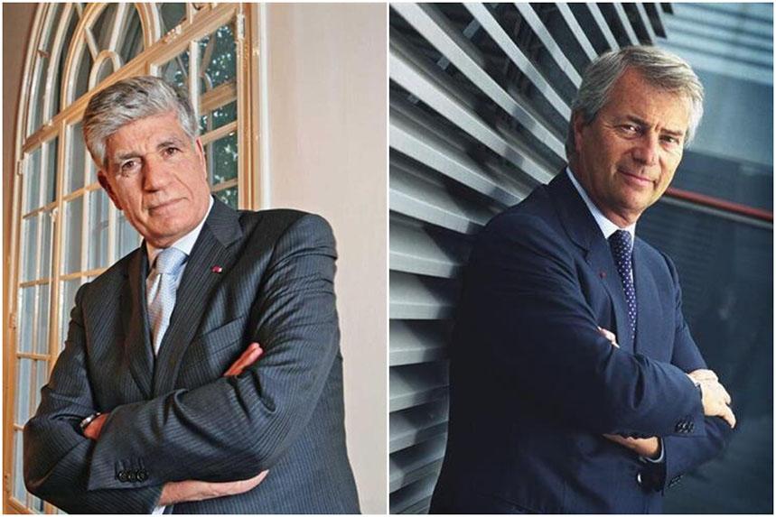 Publicis Groupe and Vivendi: Levy (left) and Bolloré