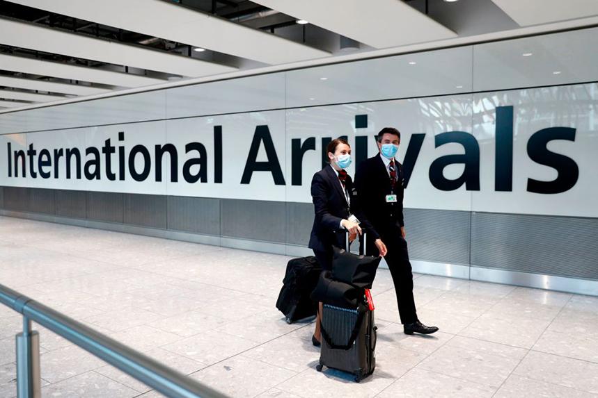 The UK began its mandatory quarantine of international travellers on 8 June