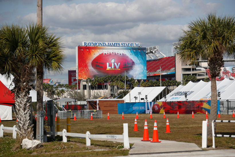 Tampa's Raymond James Stadium, the site of Super Bowl LV. (Photo credit: Getty Images).