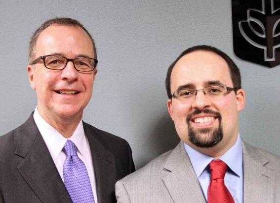 Ron Culp and Matt Ragas spearhead DePaul's award-winning PR and advertising faculty.