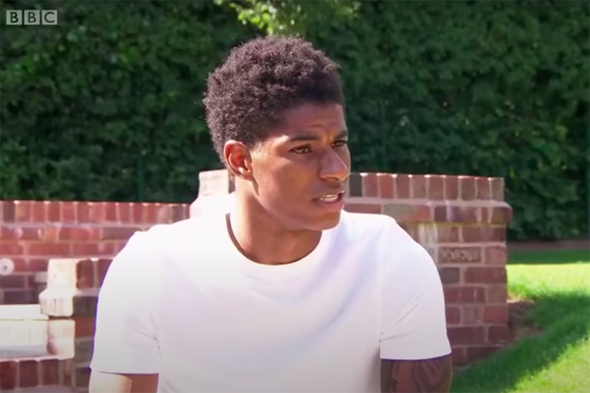 Marcus Rashford's interview with the BBC was widely acclaimed for its authentic and heartfelt tone (Photo: BBC)