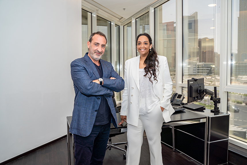 Red Havas CEO Dany Naaman and general manager Dana Tahir