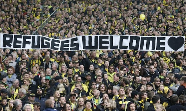 German football fans: The country has taken the lead in welcoming refugees