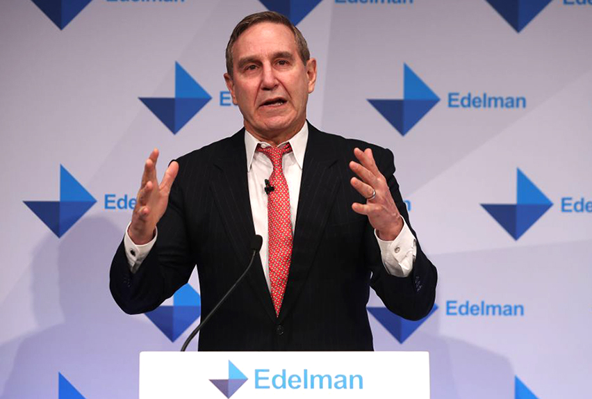 Richard Edelman says letting go of 390 staff is the hardest decision of his career.