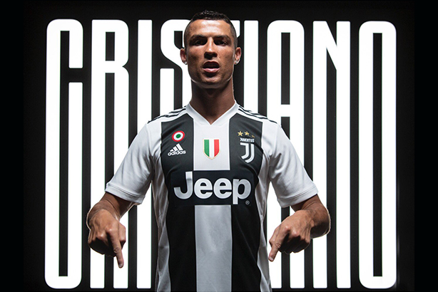 Juventus have not only signed Ronaldo as a player, but also his 'image, brand and influence' (image via @Cristiano on Twitter)