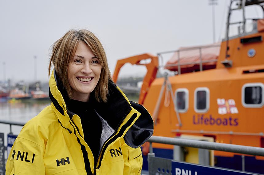 RNLI volunteer Lifeboat press officer Roz Ashton finds her rhythm (pic credit: Sarah Weal)