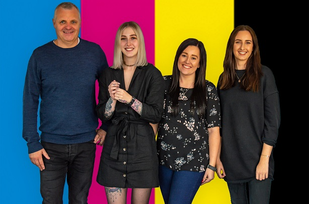 The Rumpus team that will work with Printerland: Gareth Clements, Heather McWilliams, Rebecca Sweeney, Georgina Christopher.