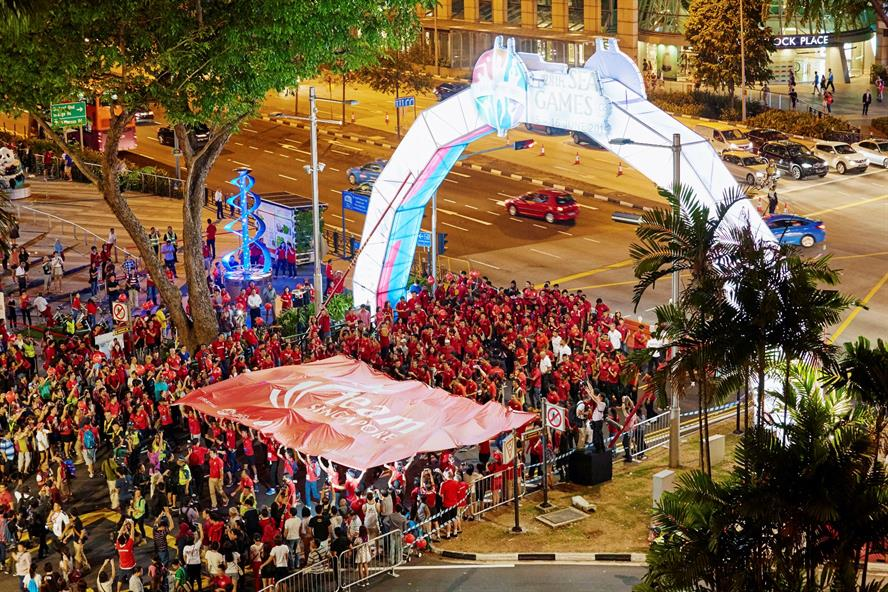 Kick-off of the three month countdown of the Southeast Asian Games, taken from Tangs Orchard