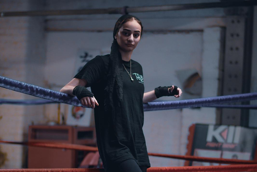 Saf – the 'Hijabi Boxer' – is one of the stars of Sports Direct's Ramadan campaign. Thumb: runner Haroon Mota.