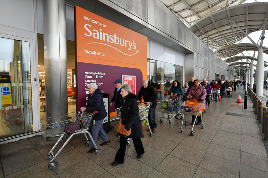 Sainsbury's and other supermarkets have played a vital role in looking after people during the pandemic. Photos: Getty Images