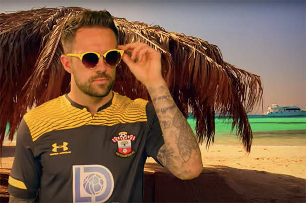 Southampton striker Danny Ings is one of several stars to feature in the spoof video