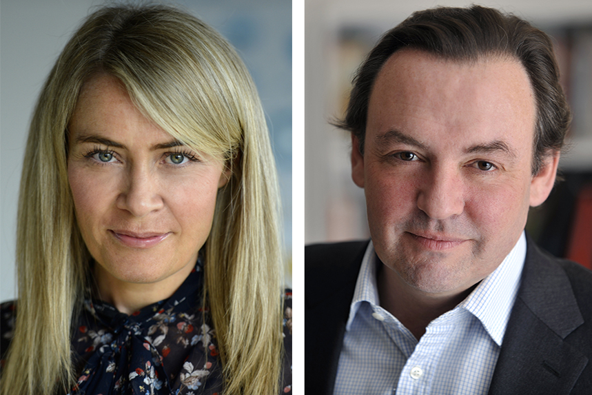 Grayling's new global leaders: Sarah Scholefield and Richard Jukes.