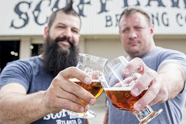 Scofflaw brewmaster Travis Herman and CEO Matt Shirah