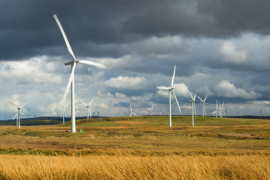 Wind turbines at ScottishPower Renewables' Whitelee Windfarm in Eaglesham, Scotland (Photo: Getty Images)