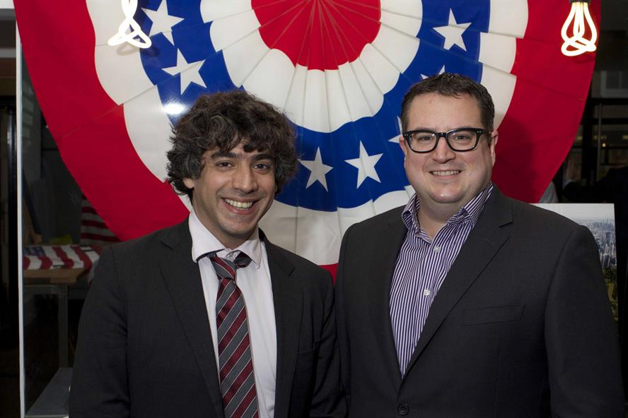 Arun Chaudhury (L), Barack Obama's former New Media Director, with Scott Learmouth (R), MD of Teamspirit Public Relations