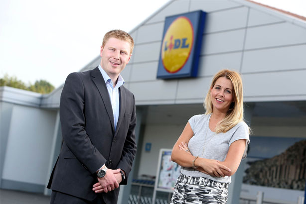 Paul Gibson, Sales Operations Executive, Lidl Northern Ireland and Leanne Scott, Account Director, Smarts Communicate.