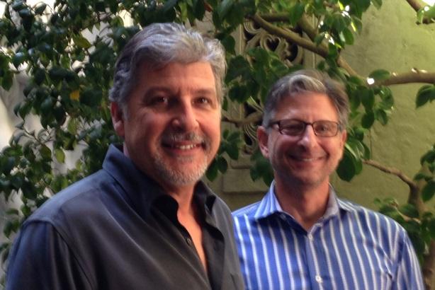 (L-R): Sparkpr CEO Alan Soucy and Socialarc's Aaron Mann