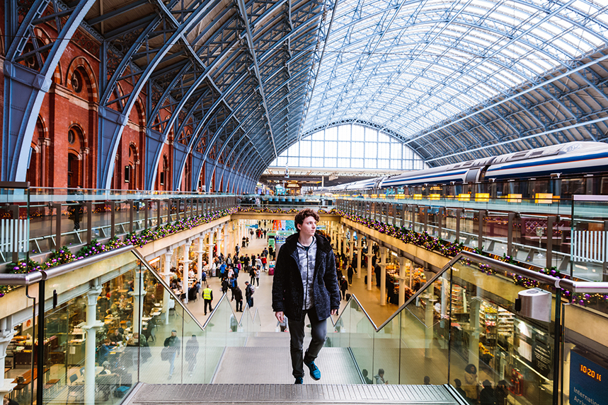 London's St Pancras International station (Photo: Getty Images)