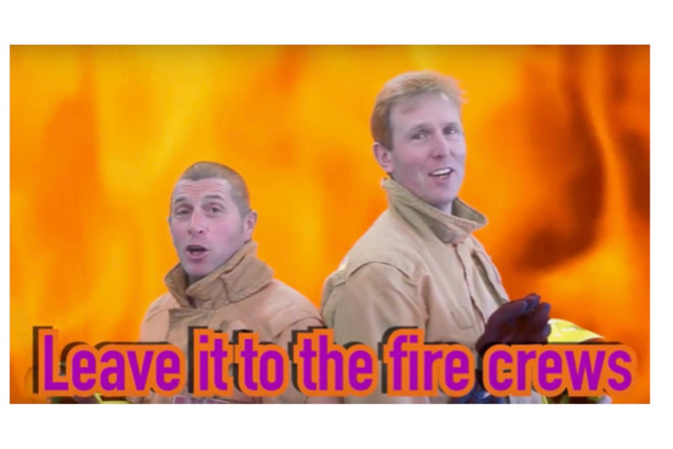 Video: Staffordshire Fire and Rescue staff sing of the dangers of tackling a fire yourself