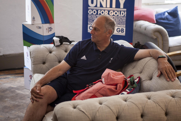 Steve Redgrave during the VR press conference at British House in Rio